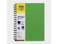 Officeworks Spirax A5 Hard Cover Notebook 200 Page Green