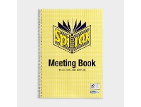 Officeworks Spirax A4 Cardboard Meeting Book 140 Page