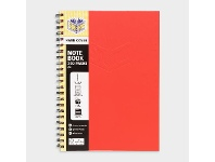Officeworks Spirax A4 Hard Cover Notebook Red