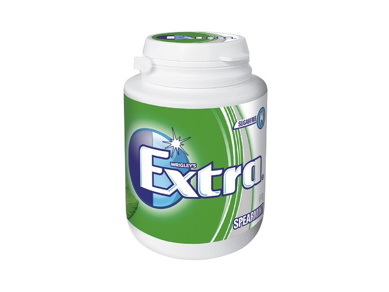 Extra Spearmint Sugar Free Chewing Gum in Bottle 64g