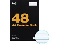 Officeworks Keji A4 55gsm 8mm Ruled Exercise Book 48 Page