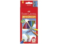 Officeworks Faber-Castell Junior Triangular Thick Colour Pencils 20 Pack