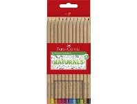 Officeworks Faber-Castell Natural Colour Pencils 12 Pack