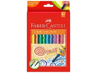 Officeworks Faber-Castell Jumbo Twistable Crayons 12 Pack Assorted