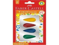 Officeworks Faber-Castell Grasp Crayons 4 Pack