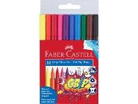 Officeworks Faber-Castell Grip Triangular Coloured Markers 10 Pack
