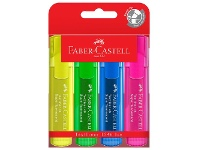 Officeworks Faber-Castell Textliner Ice Highlighters Assorted 4 Pack