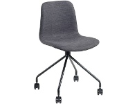 Officeworks Polo Heavy Duty Mobile Chair with Charcoal Fabric Seat