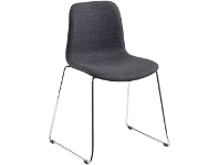 Officeworks Polo Heavy Duty Chair with Chrome Base and Charcoal Seat
