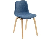 Officeworks Pago Polo Heavy Duty Chair with Timber Base and Navy Fabric Seat