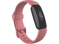 Officeworks Fitbit Inspire 2 Smart Fitness Tracker Rose and Black