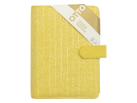 Officeworks Otto Personal Organiser Canvas Yellow Geo