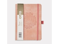 Officeworks Otto B6 Travel Journal 192 Pages Salmon