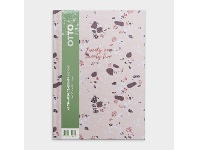 Officeworks Otto A5 Day to Page FY21/22 Terrazzo Diary Pink
