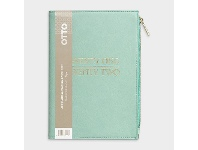 Officeworks Otto A5 Week to View FY21/22 Zip Pocket Diary Green