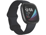 Officeworks Fitbit Sense Smart Fitness Watch Carbon and Graphite