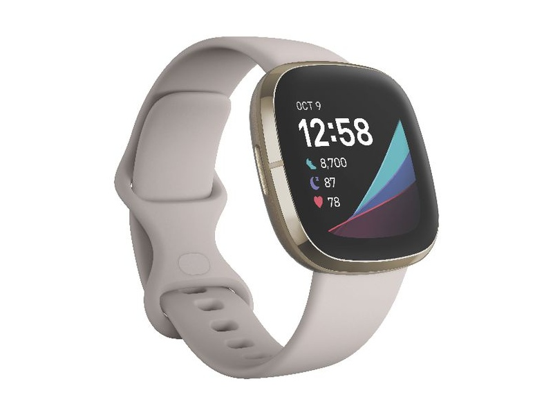 Fitbit Sense Smart Fitness Watch White and Gold