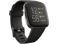 Officeworks Fitbit Versa 2 Smart Watch Black Carbon