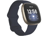 Officeworks Fitbit Versa 3 Smart Fitness Watch Midnight and Gold