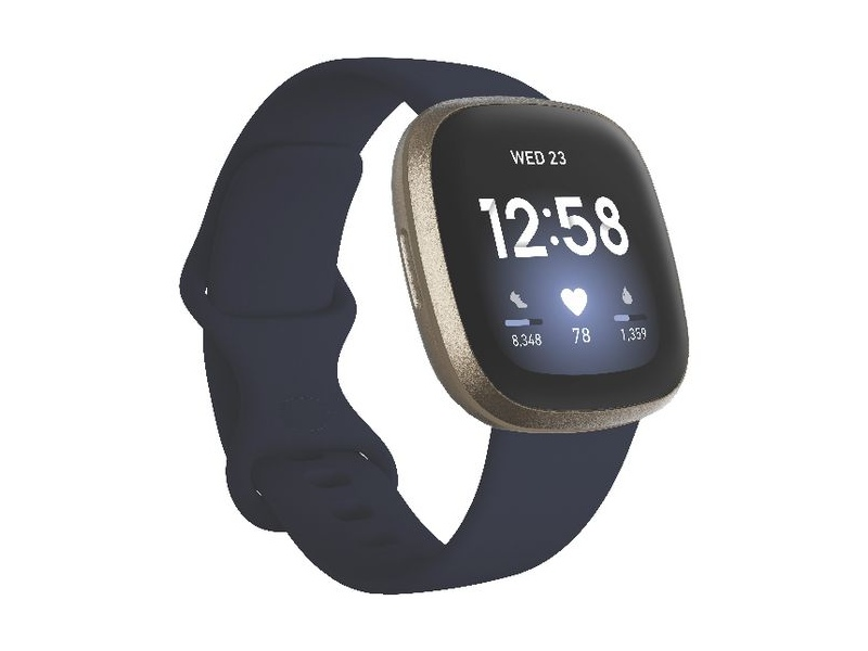 Fitbit Versa 3 Smart Fitness Watch Midnight and Gold