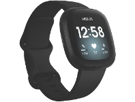 Officeworks Fitbit Versa 3 Smart Fitness Watch Black