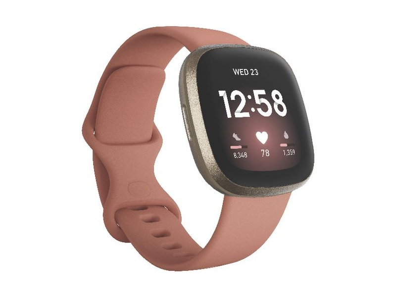 Fitbit Versa 3 Smart Fitness Watch Pink and Gold