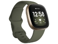 Officeworks Fitbit Versa 3 Smart Fitness Watch Olive/Soft Gold