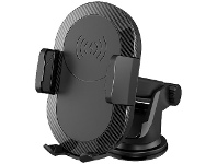 Officeworks Cleanskin Qi Gravity Car Charger 10W Black