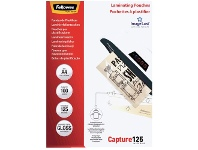 Officeworks Fellowes A4 125 Micron Laminating Pouch Gloss 100 Pack