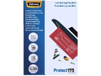 Officeworks Fellowes Laminating Pouch 59 x 83mm 175 Micron Gloss 100 Pack