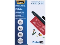 Officeworks Fellowes Laminating Pouch 67 x 99mm 175 Micron Gloss 100 Pack
