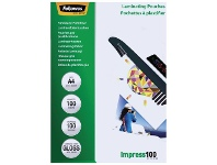Officeworks Fellowes A4 100 Micron Laminating Pouch Gloss 100 Pack