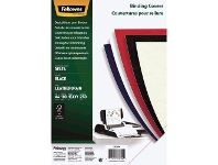 Officeworks Fellowes Leatherboard Binding Covers A4 Black 100 Pack