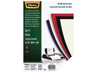Officeworks Fellowes Leatherboard Binding Covers A4 Black 25 Pack