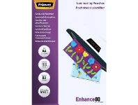 Officeworks Fellowes A4 80 Micron Laminating Pouch Matte 100 Pack