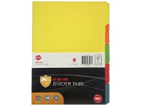 Officeworks GBC A4 5 Tab Dividers Assorted