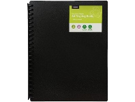 Officeworks J.Burrows Recycled Plastic Refillable Display Book 20 Pockets