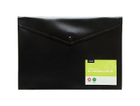 Officeworks J.Burrows Recycled Button Document Wallet Black