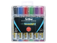 Officeworks Artline 579 Whiteboard Markers Chisel Assorted 6 Pack