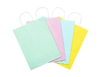 Officeworks Gift Packaging & Accessories Medium Paper Carry Bags Pastels 20 Pack