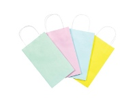 Officeworks Gift Packaging & Accessories Small Paper Carry Bags 20 Pack Pastels
