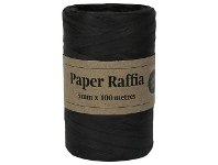Officeworks Gift Packaging & Accessories Paper Raffia 4mm x 100m Black