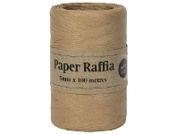 Officeworks Gift Packaging & Accessories Paper Raffia 4mm x 100m Kraft