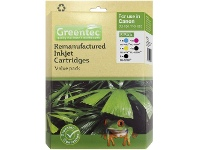 Officeworks Greentec Canon CLI 526 Black and Colour 6 Ink Value Pack