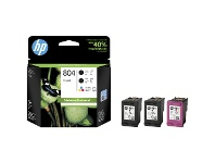 Officeworks HP 804 Ink Cartridge Value Combo Colour/Black 3 Pack