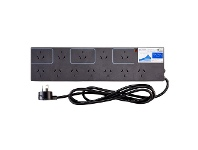 Officeworks HPM Surge Protected 12 Outlet Powerboard Charcoal
