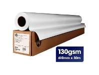 Officeworks HP Universal Coated Paper Roll 610mm x 30m 130gsm
