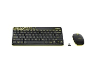 Officeworks Logitech Wireless Keyboard and Mouse Black MK240