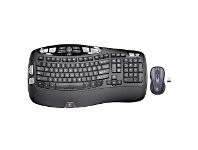 Officeworks Logitech Wave Wireless Keyboard and Mouse Combo Black MK550