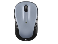Officeworks Logitech Wireless Mouse Silver and Black M325